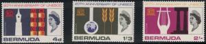 Bermuda SC207-209 UNESCO Education-Science etc. MNH1966