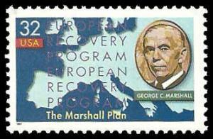 PCBstamps     US #3141 32c Marshall Plan, 1997, MNH, (10)