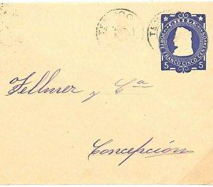 CHILE Cover Concepcion Superb Postal Stationery Envelope 5c 1905 {samwells} A120