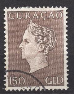 Netherlands Antilles  #198 Curacao 1948  used Wilhelmina  1 gld