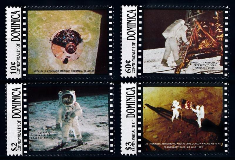 [66122] Dominica 1989 Space Travel Weltraum Apollo 11  MNH