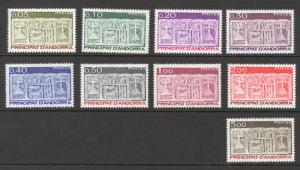 Andorra French Sc# 310-318 MH 1983 First Arms of Valleys of Andorra