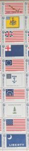 1968 sheet, Historic Flags lower pane Sc # 1345-54