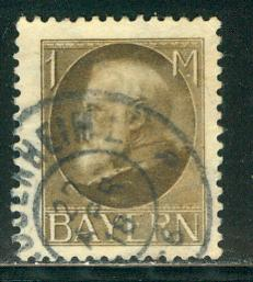 German States Bavaria Scott # 109, postally used