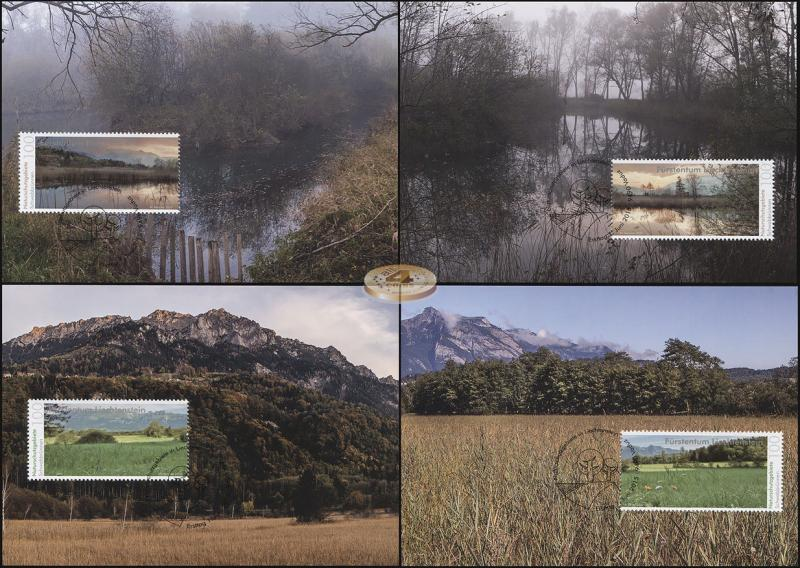 Liechtenstein. 2015. Nature Reserves in Liechtenstein (Maxi Cards Set, M)