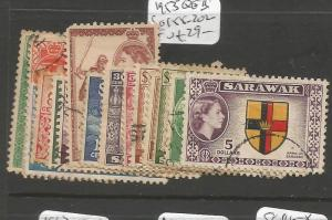 Sarawak 1953 QEII SG 188-202 VFU (2csl)