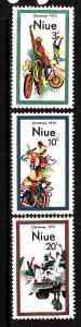 Niue-Sc#171-3-unused NH set-Christmas-1974-
