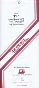 Showgard Stamp Mount 117/264 CLEAR Background Pack of 5