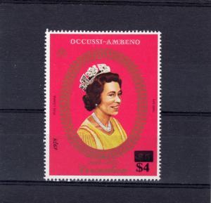Timor (Ocussi-Ambeno) 1978 Coronation 25th.Anniv Set (1) Revalued $4 MNH