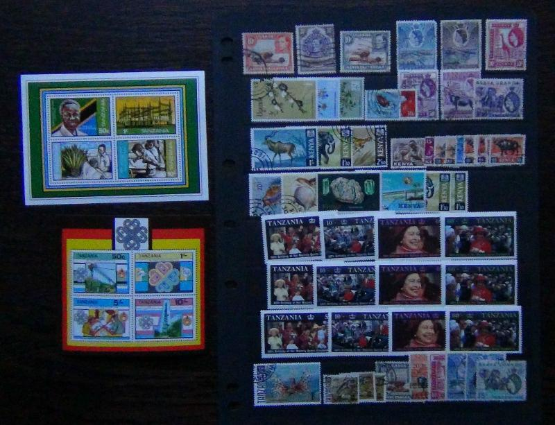 Few KUT Kenya Shells 20s Tanzania 1981 Independence M/S 1983 Communications m/s
