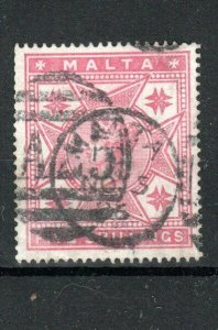 Malta 1886 5s rose FU CDS