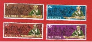 St Lucia #278-281 MNH OG  Dickens  Free S/H