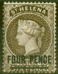 St Helena 1890 4d Pale Brown SG43 Fine Lightly Mtd Mint