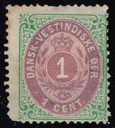 Danish West Indies #5a Numeral; Unused (80.00)