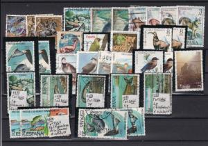 Spain Birds & Animals Stamps Ref 23298