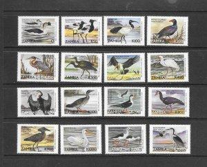 BIRDS - ZAMBIA #839-54  MNH