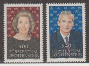 Liechtenstein Scott #967-968 Stamps - Mint NH Set