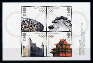 [78046] Great Britain 2008 Olympic Games Beijing Sheet Joint Issue China MNH