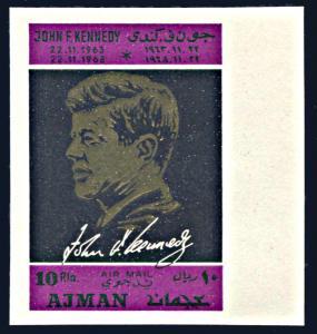 Ajman Michel 325B, MNH imperf., 5th Anniversary Death of John F. Kennedy