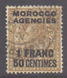 Morocco Scott 421 - SG211, 1925 French 1f50 used