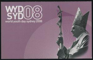 Australia 2799-2801 in Presentation folder MNH World Youth Day, Pope Benedict