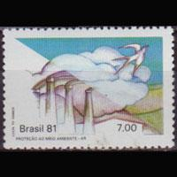 BRAZIL 1981 - Scott# 1747 Environment 7cr NH