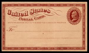 Scott #UX3/S2  Mint Postal Card  SCV $85
