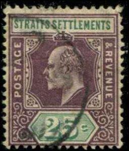Straits Settlements SC# 99 Edward VII 25c Used