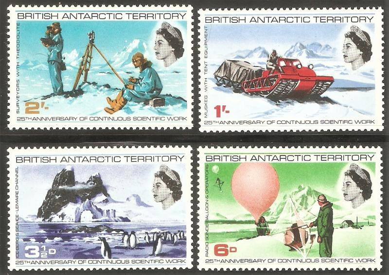 BRITISH ANTARCTIC TERRITORY Sc# 20 - 23 MNH FVF Set-4 Iceberg Penguins