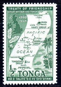 TONGA --  1951 -- SG 95  -   1/2d   value     MM