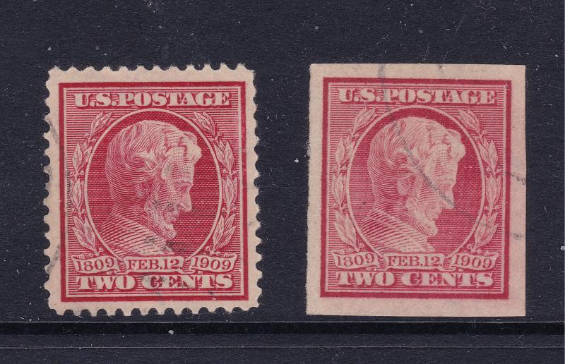 USA the 1909 Lincoln used perf & imperf