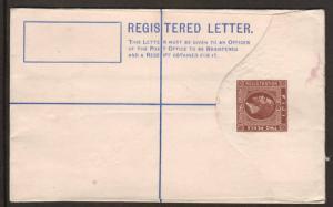Fiji H&G C3, 1920 2p + 2p SPECIMEN Registered Envelope