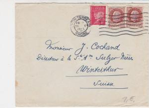 France 1943 Lyon-Terrerin Wavy Cancel Multiple Man Stamps Cover Ref 29784