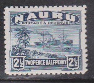 NAURU Scott # 21a MH - Ship Palm Trees & Beach