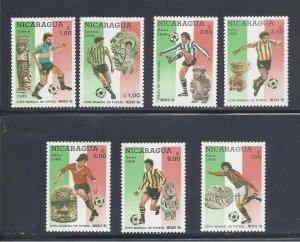 Nicaragua MNH 1507-13 World Cup Soccer Mexico 1986
