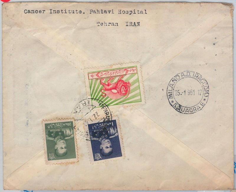 56372 -  IRAQ  -  POSTAL HISTORY: AIRMAIL COVER to ITALY - LIONS