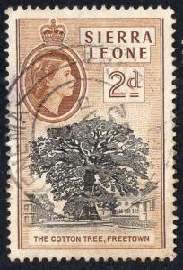 Sierra Leone   #198   1956   used   2d   brown