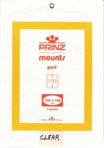 PRINZ CLEAR MOUNTS 130X198 (5) RETAIL PRICE $10.50