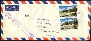 KIRIBATI 1981 airmail cover BETIO to USA...................................94430