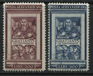 Vatican Gratianus Airmails 300 and 500 lire mint o.g.