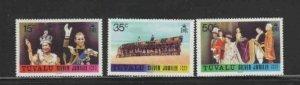 TUVALU #43-45 1977 REIGN OF QEII 25TH ANNIV. MINT VF NH O.G bb