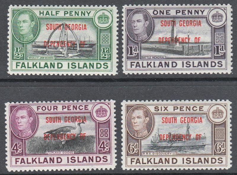 Falkland Islands South Georgia KGVI 1944 Set SGB1-8 Mint Never Hinged MNH UMM