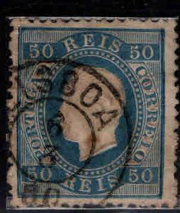 PORTUGAL Scott 43 Used King Luiz stamp double ring cancel