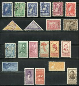BOLIVIA CLASSIC MOSTLY MINT SELECTION HIGH CATALOGUE VALUE AS SHOWN