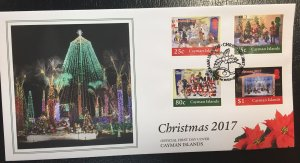 Cayman Islands #1192-1195 First Day Cover - Christmas 2017