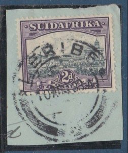 BASUTOLAND 1933 Sth Africa 2d with LERIBE cds...............................N406