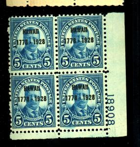 648 MINT Plate Block F-VF OG NH Cat $375