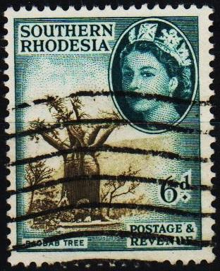 Southern Rhodesia. 1953 6d S.G.84 Fine Used