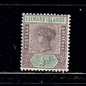 Leeward Is #1 MH 1890 issue