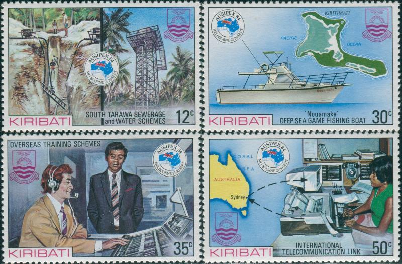 Kiribati 1984 SG224-227 Ausipex set MNH